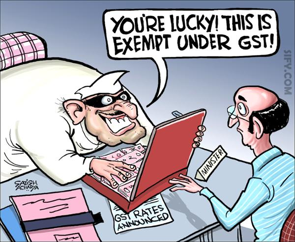 Some things remain exempt from GST… [PT]