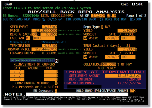Bloomberg Buy-Seel Back Rep Analysis
