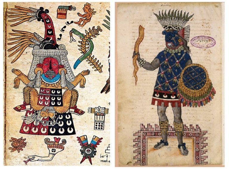 Tlazolteotl and Tlaloc