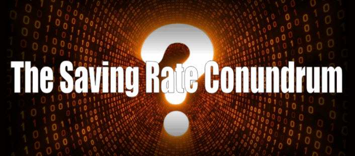 Saving Rate Conundrum