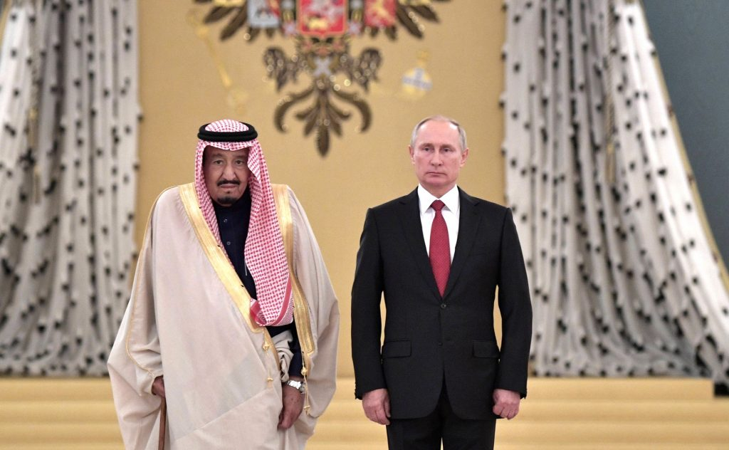 Vladimir Putin and Salman of Saudi Arabia