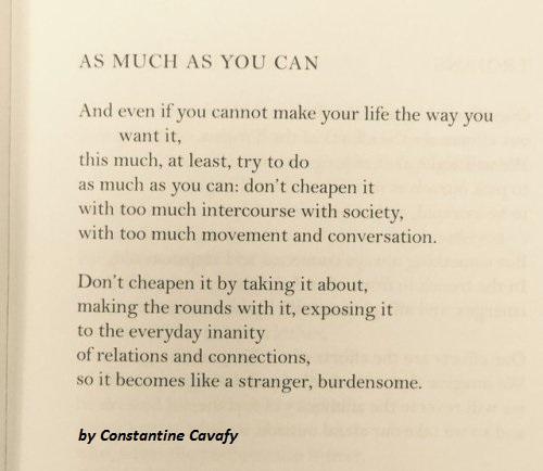 Constantine Cavafy Poem
