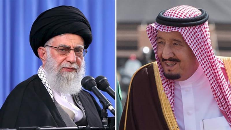 Shi'ite Chief Mullah Ayatollah Ali Khamenei and Wahabbi King Salman Abdel-Aziz al-Saud