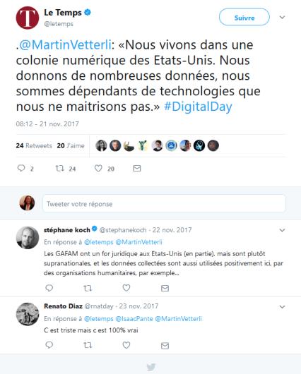 Martin Vetterli Tweet