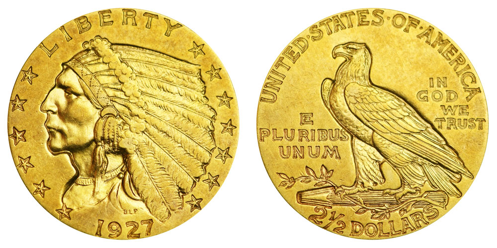 Indian Head Quarter Eagle Gold