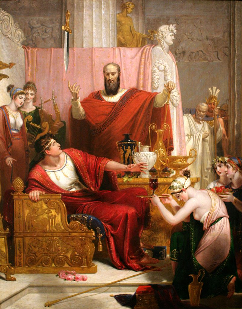 King Dionysius shows the courtier Damocles