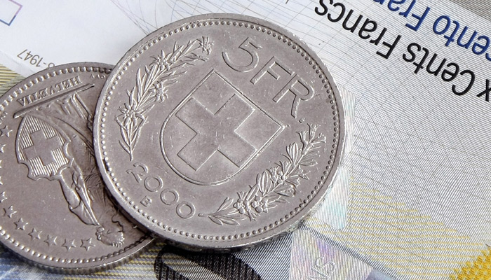 Swiss Franc Rates Coin Note