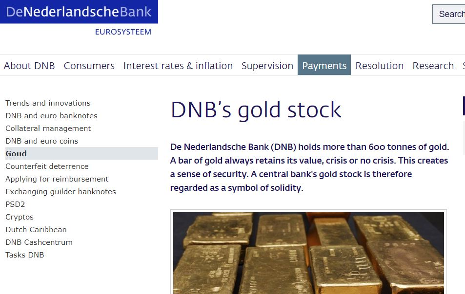 DNB's gold stock