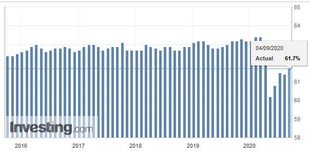 U.S. Participation Rate, August 2020