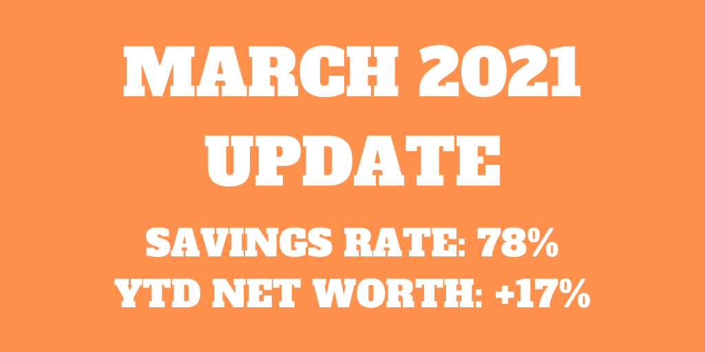 March 2021 – Splurging the bonus
